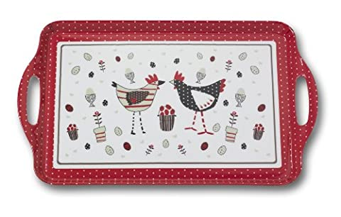 Cooksmart Chicken Design Large Melamine Tray