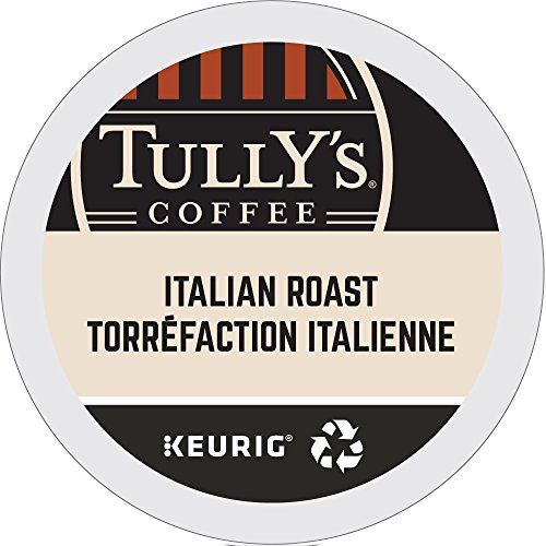 Tully's Coffee Italian Roast, K-Cup Portion Pack for Keurig K-Cup Brewers 24-Count