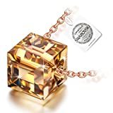 NINASUN Rising Sun 925 Sterling Silver Women Necklace Pendant Golden Shadow Cubic Swarovski Crystal Allergen-free Fine Jewellery Valentines Day Birthday Christmas Xmas Mothers Day Anniversary Gifts