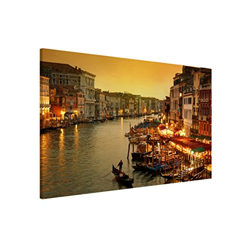 Magnettafel - Großer Kanal von Venedig - Memoboard Quer Metall Magnet Pinnwand Motiv Wand Stahl Küche Büro Metall Magnet Pinnwand Motiv Wand Stahl Küche Büro, Größe HxB: 60x90cm