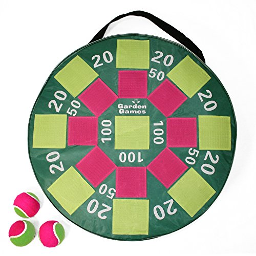 Garden Games Target Toss Fun Inflatable Dart Board with Velcro Balls