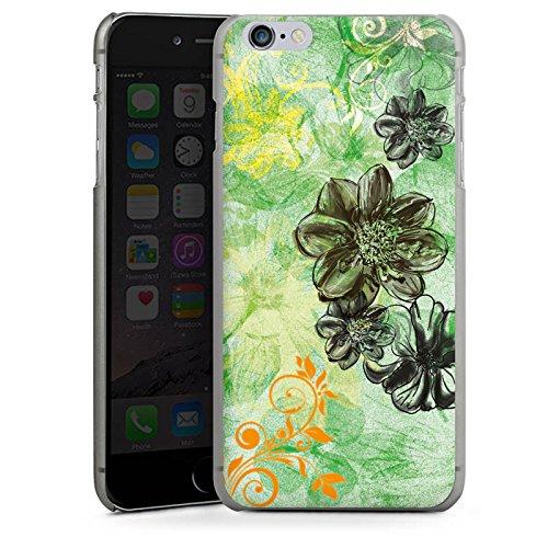 Apple iPhone X Silikon Hülle Case Schutzhülle Blumen Ornamente Blüten Hard Case anthrazit-klar