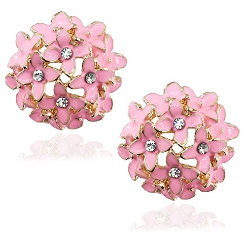 Youbella Light Pink Crystal Stud Earrings For Women And Girls