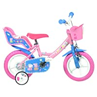 Dino Bikes 124RL-PIG Peppa Pig Finding Dory Bicycle, Kids Bike, Pink