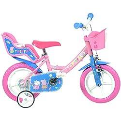 Bicicleta Dino Bikes 124rl-pig bicicleta de Peppa Pig, rosa, 30,5cm)