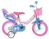 Dino Bikes 124rl-pig bicicleta de Peppa Pig, rosa, 30,5cm)