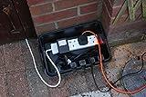 Dribox Wetterfeste Box Anschlußkasten für elektrische Geräte und Kabeln, IP55, schwarz, FL-1859-285
