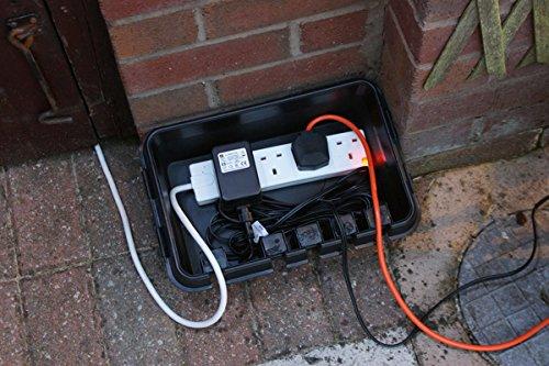 Dri-Box FL-1859-285 Wetterfeste Box Anschlußkasten für elektrische Geräte und Kabeln, IP55, Schwarz