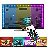 MEKEET LED Strip RGB 2m LED Licht Streifen 5050SMD 60Leds Lichterkette USB TV Beleuchtung mit 17 Tasten IR Fernbedienung inkl. Farbwechsel, LED Bänder für Deko Party Weihnachten
