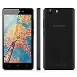 "DOOGEE X5 Pro 5.1"" Zoll 4G LTE-Smartphone Handy Ohne Vertrag Simlockfrei Dual SIM Quad-Core Kapazitiv HD Screen 2GB+16GB WIFI GPS Schwarz"