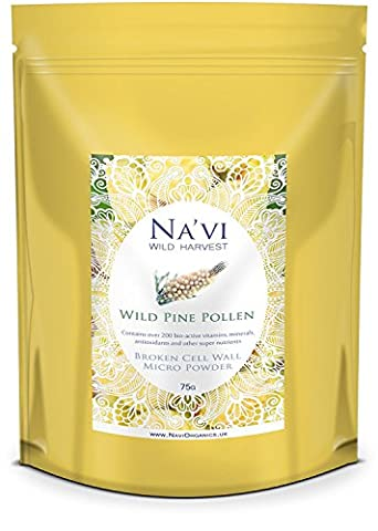 Wild Harvested Pine Pollen - Broken Cell Wall Micro Powder (75 g)