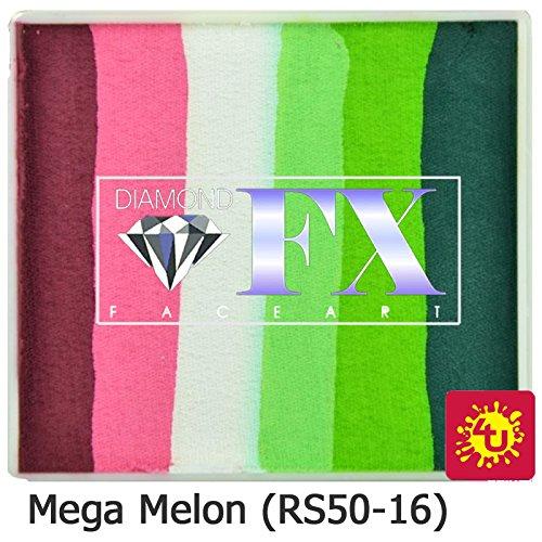 Diamond FX Split Cake, 50 gm - Large Mega Melon