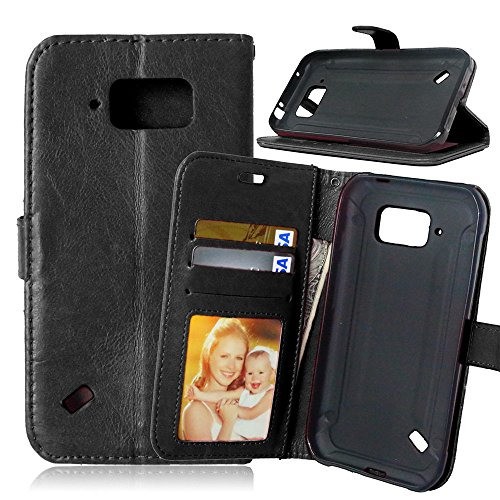 Nancen Compatible with Handyhülle Galaxy S6 Active / G890A (5,1 Zoll) Lederhülle Style Acht Farbe Weich PU Flip Case Ledertasche/Schutz Etui, Karten Slot Foto Wallet Hülle
