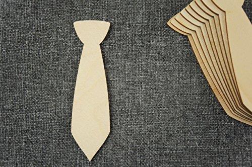 10x Krawatte Schick Herz Anhänger blank Form Holz Basteln Malen Dekoration Wohnen Aufhängen