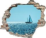 3d de pared efecto 'ruhige Mar' | Pegatinas | Avance | decorativo pared autoadhesivo para pared | piedra |...