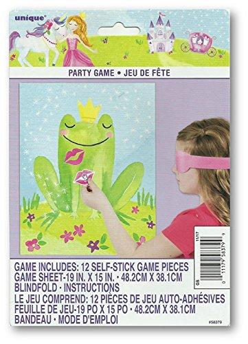 Unique Party 58379Zauberhafte Prinzessinnen-Party Spiel für 12 (Prinzessin Frosch-party Supplies Der Und)