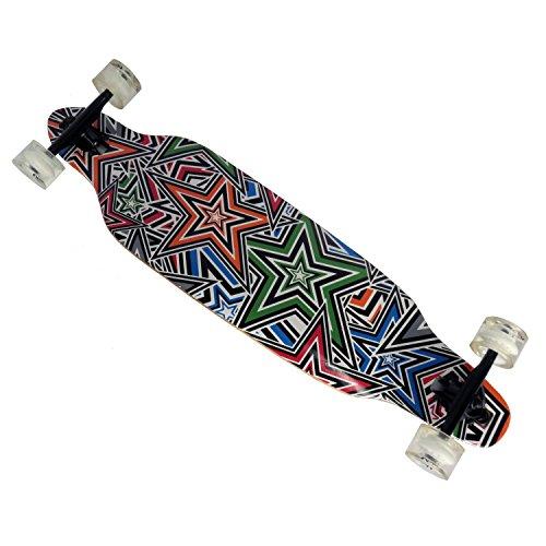 Unibest Skateboard Longboard Skaten Holzboard komplett 97x24cm Ahornholz ABEC11