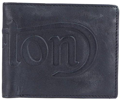 noir-debossed-logo-cuir-pliante-portefeuille-de-norton