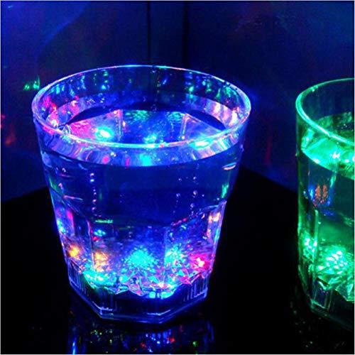 nde LED Weinglas 7 Farben Leuchten Barware Drink Cup für Party Hochzeit Whisky Party Club KTV Geburtstag Liebhaber Geschenk,D ()