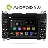 Aumume Android 9.0 Autoradio für Mercedes Benz Sprinter B200 B-Class W245 B170 W169 mit Navi Unterstützt Autoplay Mirrorlink Bluetooth DAB WiFi USB CD DVD