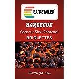 SAPRETAILER Coconut Shell Charcoal Briquettes (10 kg) for Barbecue