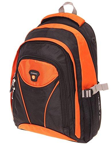 Rucksack, Schulrucksack, Sporttasche, Freizeitrucksack, City Rucksack, Arbeit, Sport, Schule, Uni, Freizeit (Orange)