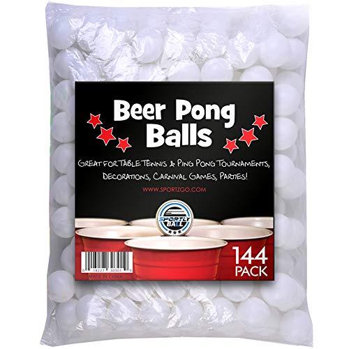 Sportiv Bier Pong Bälle, 38mm, 144Stück