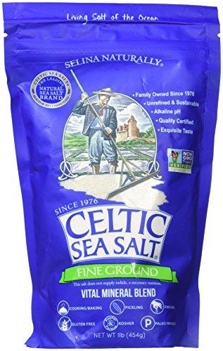 Celtic Sea Salt, fein geschliffen, Vital Mineralmischung, 1 lb (454 g) (1 Pfund Salz)