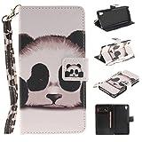 Chreey Coque Sony Xperia M4 Aqua (5 pouces),PU Cuir Portefeuille Etui Housse Case Cover ,carte de crédit Fentes pour ,idéal pour protéger votre téléphone