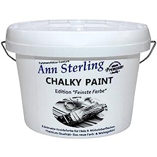 Ann Sterling Kreidefarbe Shabby Chic Farbe: Chalky White/Weiß 1,5Kg. / 1 Liter Lack Chalky Paint