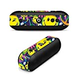MightySkins Skin For Beats by Dr. Dre Pill Plus - Peace Smile | Protective, Durable, and Unique Vinyl Decal wrap cover | Easy To Apply, Remove, and Change Styles | Made in the USA