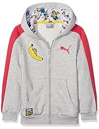 Sudadera Minions de Puma, chaqueta con capucha para niño, infantil, Minions Hooded Jacket, gris, 128