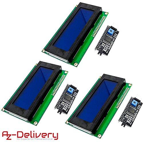 AZDelivery ⭐⭐⭐⭐⭐ 3 x HD44780 2004 LCD Display Bundle 4x20 Zeichen mit I2C Schnittstelle für Arduino mit gratis eBook! - 4 X Lcd-display
