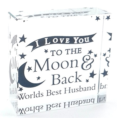 """lds Best Husband I Love You To The Moon And Back"""" Medium Romantisches Geschenk Geschenke für ihn Geburtstag Weihnachten Valentinstag Hochzeit Jahrestag Neuheit Geschenk Geschenkidee (Neuheit Weihnachten Geschenke)"""