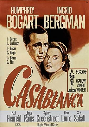 Casablanca Affiche du film Poster Movie Casablanca (11 x 17 In - 28cm x 44cm) German Style B