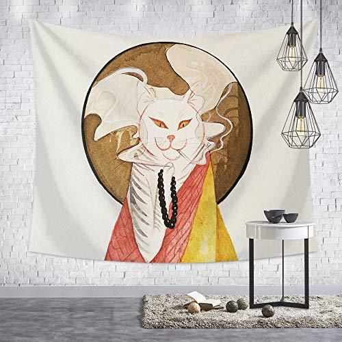 mmzki Japanische ukiyoe hängen Tuch Sonnenaufgang kran kran Kaninchen wandteppich Retro Dekoration Wohnzimmer Schlafzimmer b2-12 200 * 150 -