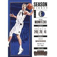 2017–18Dépasse Panini Season Ticket # 62Dirk Nowitzki Dallas Mavericks Basketball carte