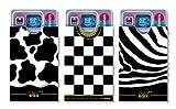 cardbox BLACK & WHITE set /// Motive: Kuhmuster / Schachmuster / Zebra /// 3er SET /// Ausweishüllen / Kartenhüllen / Führerscheinhüllen / Hüllen für alle Karten im Scheckkartenformat