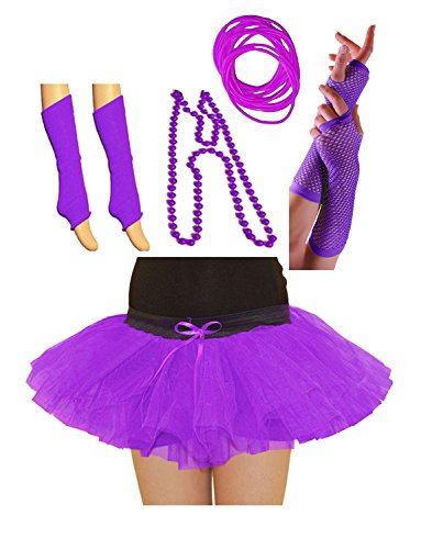 Purple Skirt and Accessories Set - Sizes 8-14, 16-22 Many Colours Available