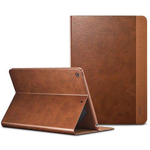 ESR Hülle komptatibel mit iPad 2018/2017 Modell 9,7 Zoll, Hochwertige Schutzhülle mit Auto aufwachen/Schlaf Funktion Einstellbarem Blickwinkel Smart Case Cover - Braun