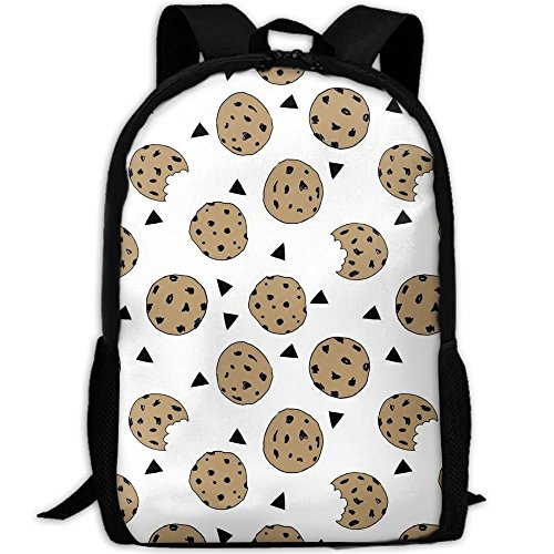 best& Stylish Cookies Food Chocolate Chip Biscuits Laptop Backpack School Backpack Bookbags College Bags Daypack - Adrienne Oxford