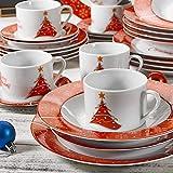 VEWEET, Serie Christmastree, Porzellan Kombiservice, 30-teilig Geschirr Set für Weihanchten für VEWEET, Serie Christmastree, Porzellan Kombiservice, 30-teilig Geschirr Set für Weihanchten