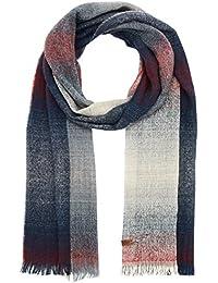 Wrangler Men's Faded Check Scarf, Grey (Dark Grey 06), One Size (Manufacturer Size: 88/88)