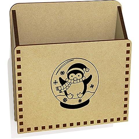 'Penguin Snow Globe' Wooden Letter Holder / Box