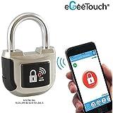 Egeetouch Smart lucchetto 2nd Gen aggiornato con brevettato Dual Bluetooth + NFC tecnologie per smartphone & Watch (argento)