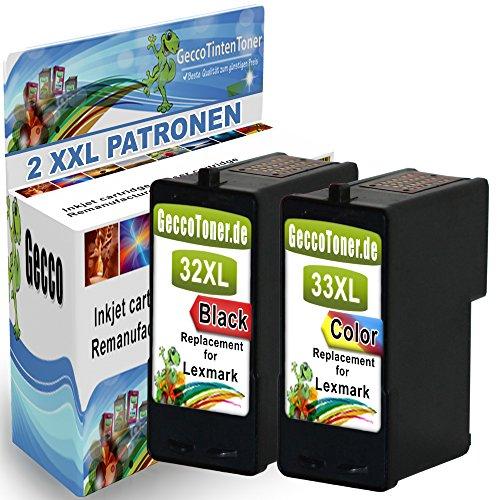 atible Druckerpatronen Als Ersatz für Lexmark 32 XL + 33 XL für Lexmark Z810 Z815 X3310 X3330 X3340 X5210 X5250 X5470 X7170 X7350 X71170 X7300 X7310 X8300 Series P4000 Series P4250 P4310 P4330 P4350 P6250 P910 P915 Tintenpatronen (Schwarz , Farbig) 32+33- Lex (Lexmark Drucker X5470)