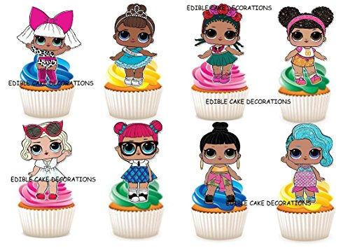chen Party Stand Up Essbare Papier Cupcake Topper Kuchen Dekorationen ()