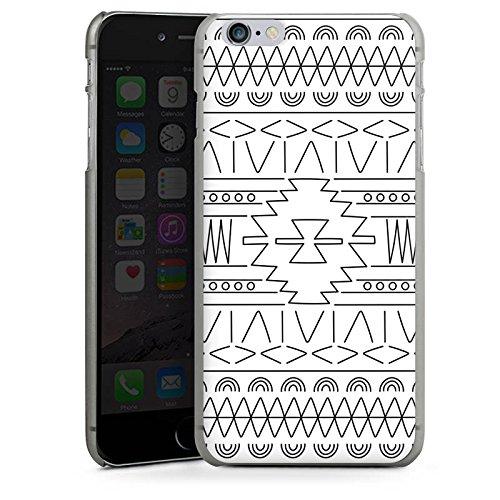 Apple iPhone 5s Housse Outdoor Étui militaire Coque Noir et blanc Ethnique Motif CasDur anthracite clair