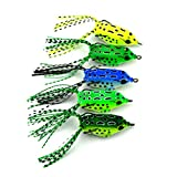 #7: Generic 1 : 5.5cm 8.2G Mini Soft Rubber Frog Fishing Lure Crank Baits With Hooks Isca Artificial Fishing Lures Black Fish Killer Fo004