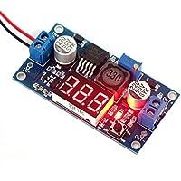 hrph DEOK LM2577Boost Converter Dc Spannungsregler verstellbar + 0–40V Voltmeter LED rot Monitor-Spannung